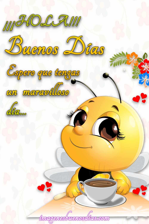 abeja buenos dias