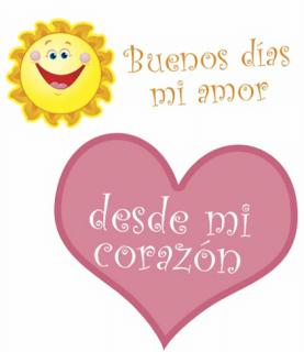 Imágenes de Buenos Días mi Amor para Whatsapp