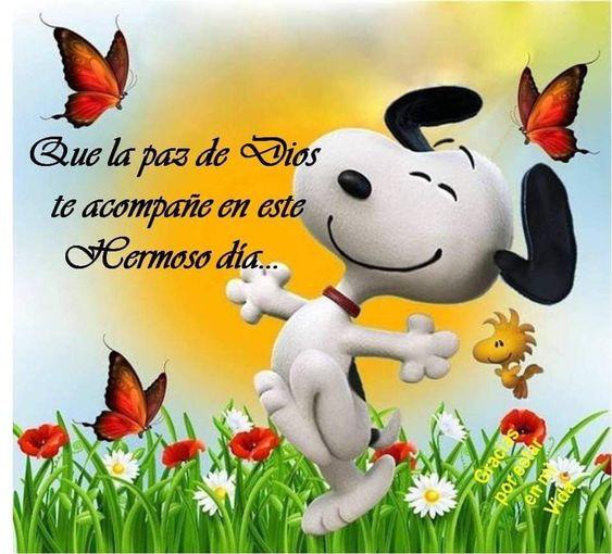 Imágenes de Snoopy con Frases de Buenos Días