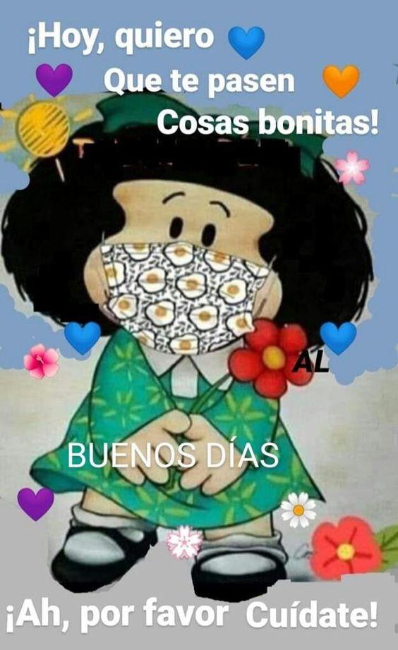 Mafalda buenos dias