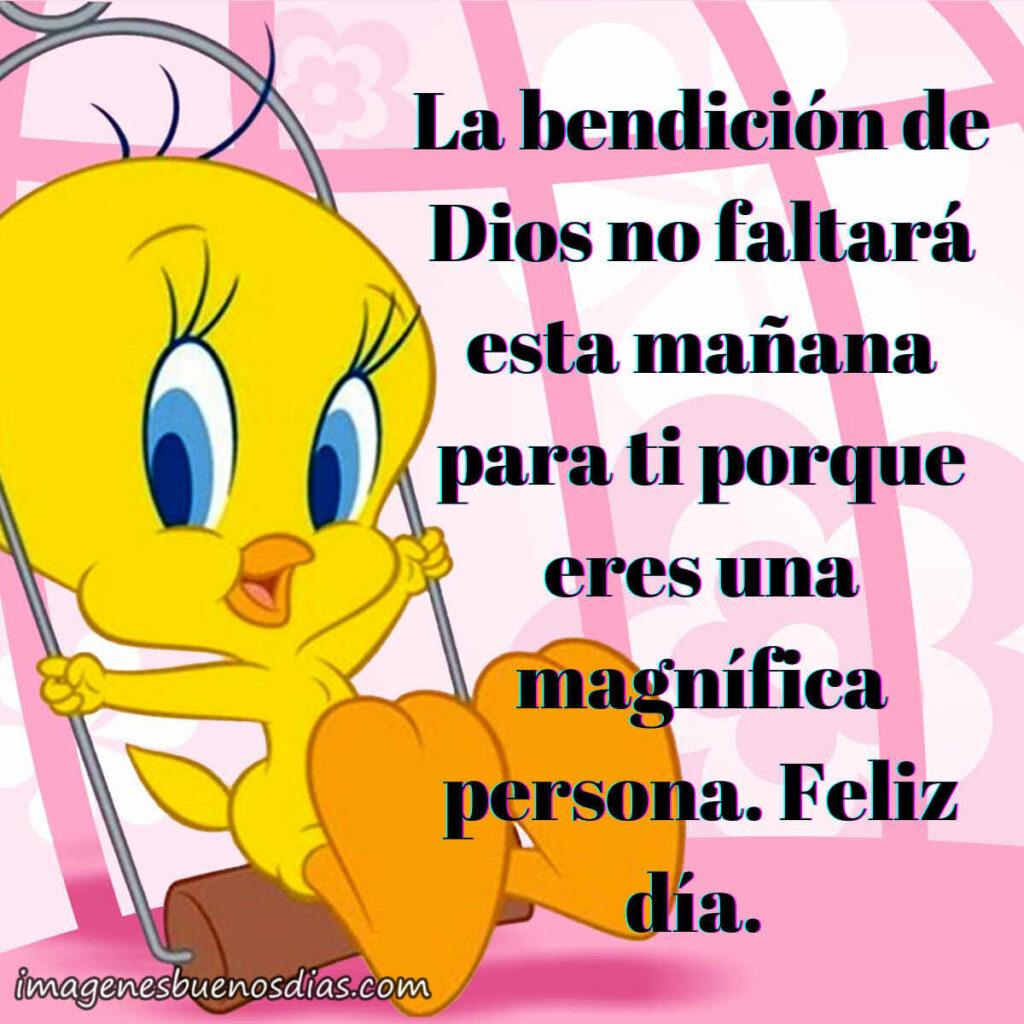 La bendición de Dios no faltara esta mañana para ti por que eres una magnifica persona. Feliz día.